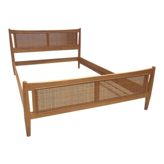 1950s Danish Modern Drexel Full Bedframe For Sale