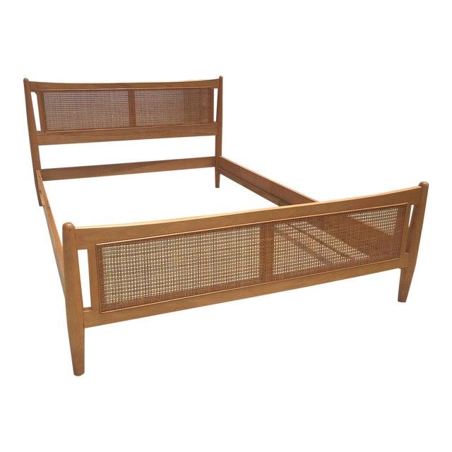 1950s Danish Modern Drexel Full Bedframe For Sale