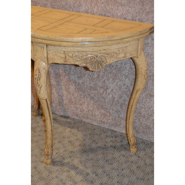 1970s Baker Country French Style Flip Top Card Table For Sale - Image 5 of 13