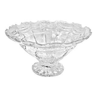 Shannon Godinger Espirit Large Crystal Fruit Bowl W/Pedestal For Sale