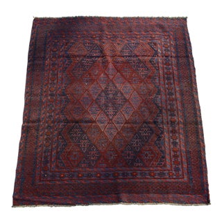 Turkish Tribal Handmade Kilim Wool Rug - 4′6″ × 4′7″