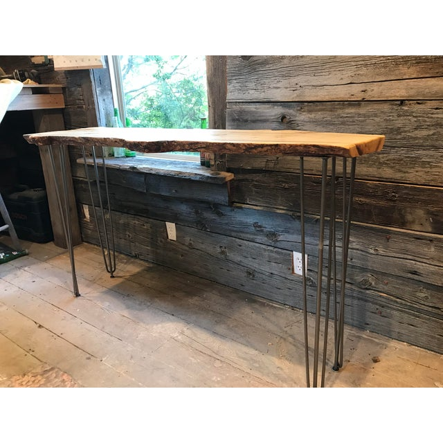 Live Edge Console Table For Sale - Image 6 of 12