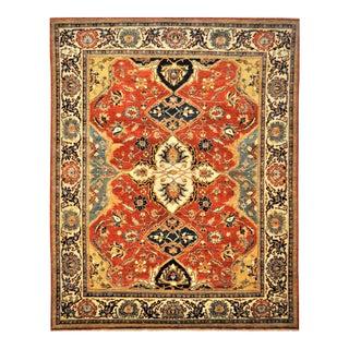 """Vintage Turkish Fine Oushak Wool Area Rug - 7'10"""" X 9'10"""""""