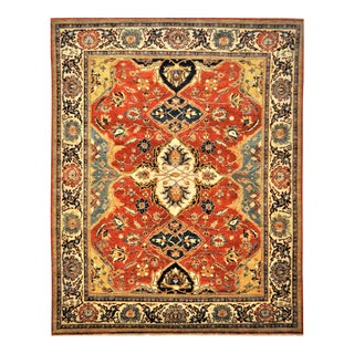 "Vintage Turkish Fine Oushak Wool Area Rug - 7'10"" X 9'10"" For Sale"