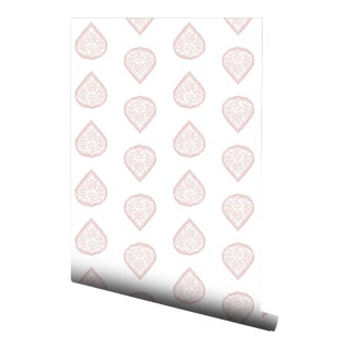 Pink Boteh Floral Pre-Pasted Wallpaper Double Roll