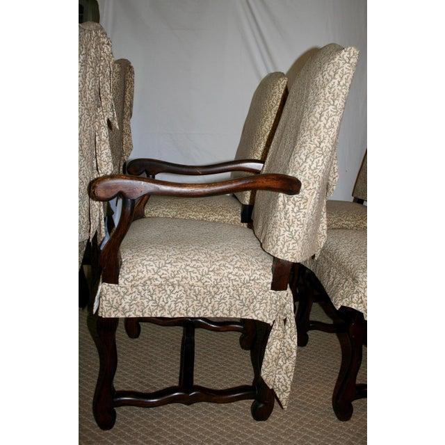 Italian Dining Chairs With Custom Slipcovers | Chairish