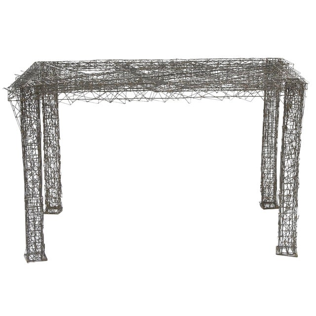 1970s Mid-Century Modern William De Lillo Wire Rod Console or Dining Table For Sale