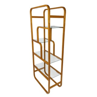 Mid Century Bentwood Etagere, Display Shelf, Maybe Plycraft For Sale