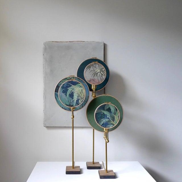 Modern Circle Blue Grey, Table Lamp, Sander Bottinga For Sale - Image 3 of 10