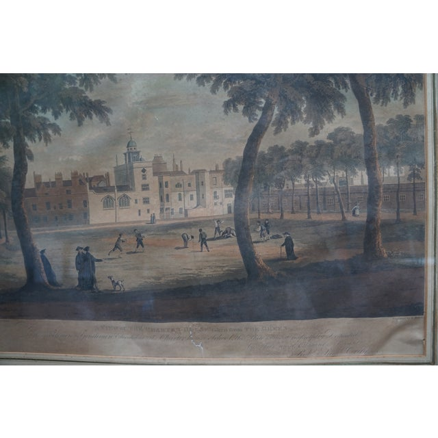 Early 20th Century Antique English Vauxhall Painted Engraving For Sale In Los Angeles - Image 6 of 10