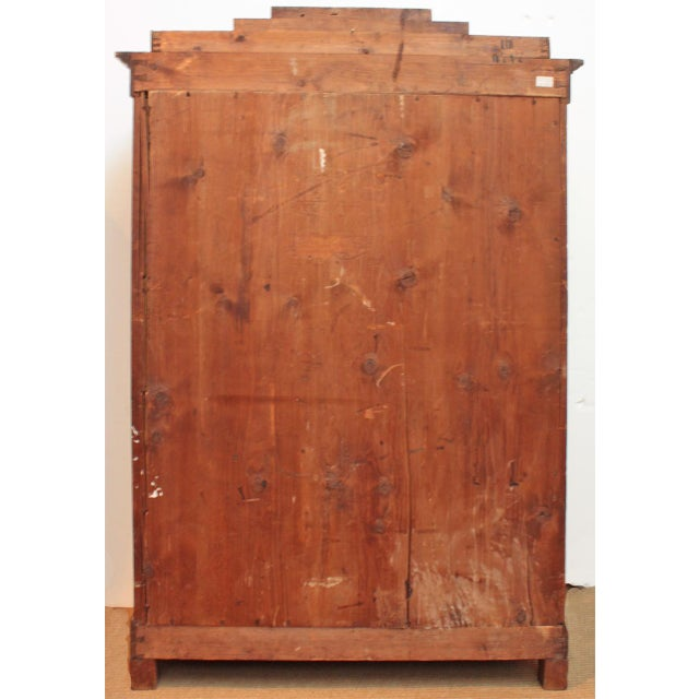 19th Century Biedermeier Bibliotheque of Figured Mahogany For Sale - Image 10 of 10
