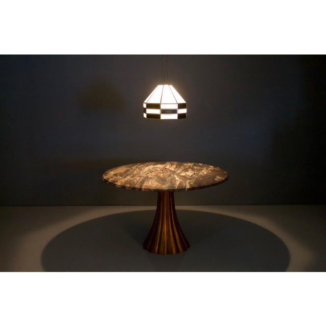 1960s Fantastic Tulip Marble Dining Table Cast Metal Italy 1960s For Sale - Image 5 of 13