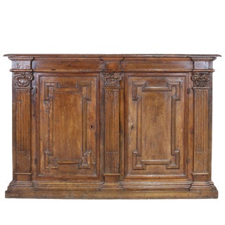 18th Century Tuscan Carved Walnut Credenza For Sale