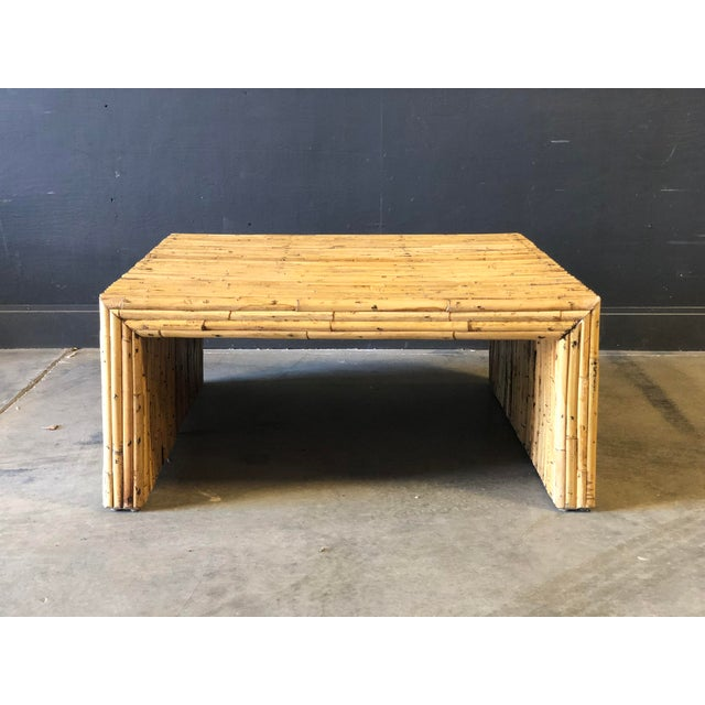 1960s Vintage Bamboo Parson Style Coffee Table For Sale - Image 5 of 5