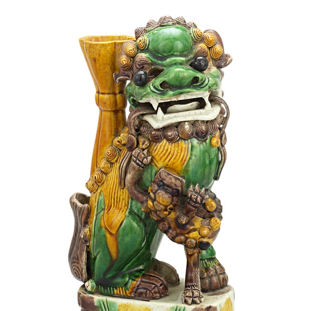 Asian Qing Dynasty Chinese Foo Dog Totems For Sale - Image 3 of 5