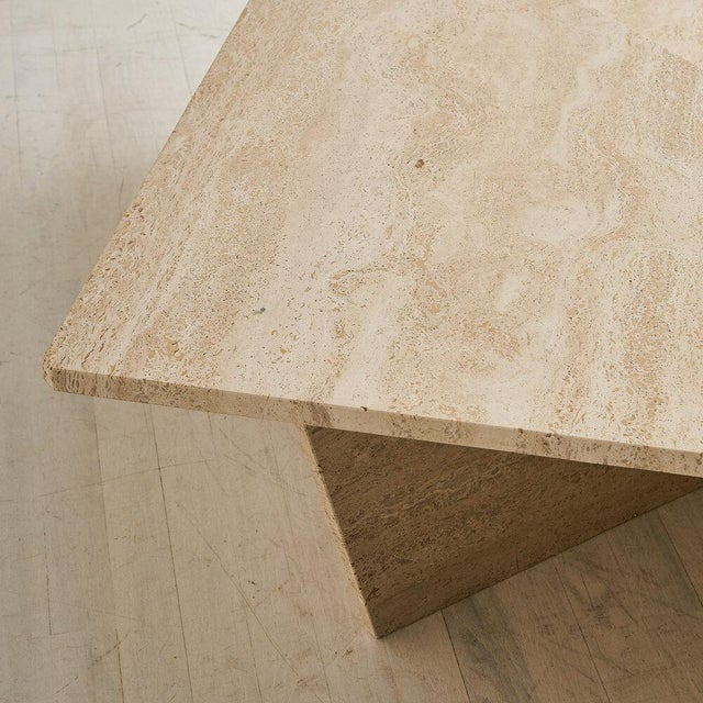 1980s Tiered Travertine Coffee Tables - a Pair For Sale - Image 5 of 12