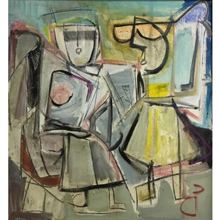 C P Figurative Abstract Painting 1970-80 #17 For Sale