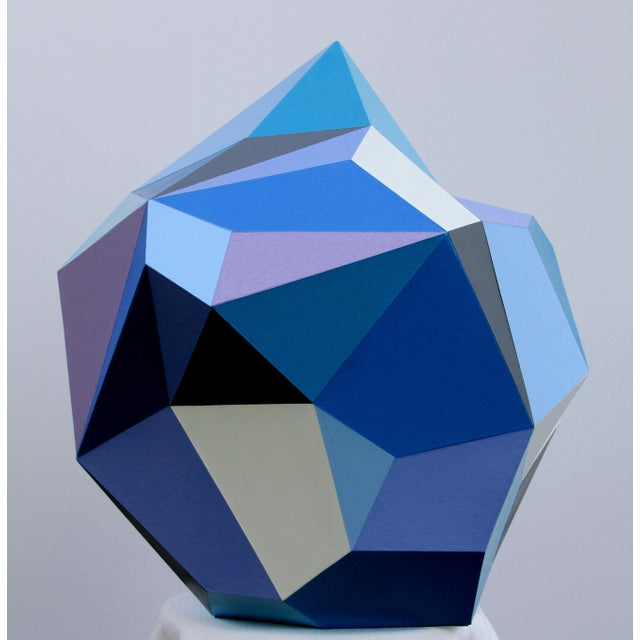 Abstract 21st Century Blue Diamond Sculpture by Sassoon Kosian For Sale - Image 3 of 8