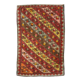 Vintage Turkish Oushak Yastik Scatter Rug - 01'11 X 02'11 For Sale