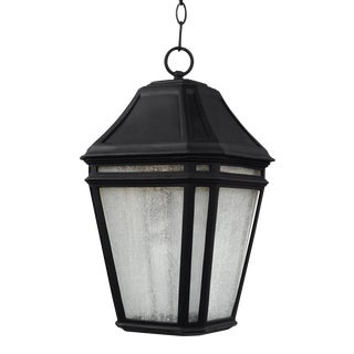 Transitional Black Large LED Pendant Stone For Sale