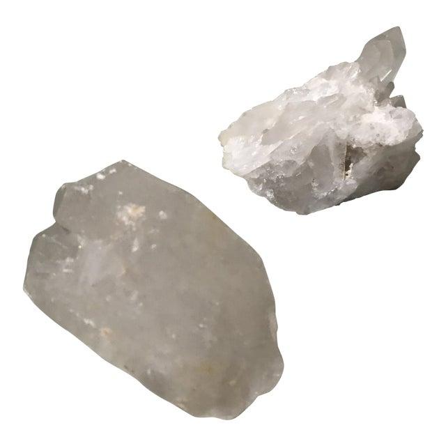 Rock Quartz Crystal Clusters A Pair Chairish