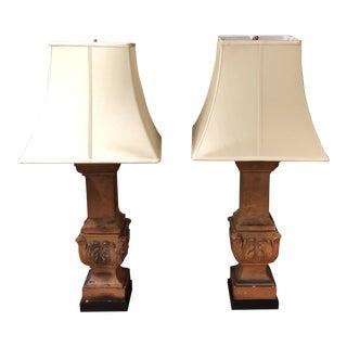 Italian Style Ceramic Table Lamps - a Pair
