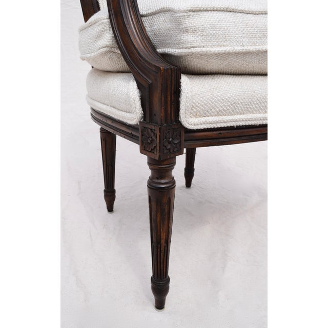 Louis XVI French Walnut Fauteuil Accent Chair For Sale - Image 10 of 13