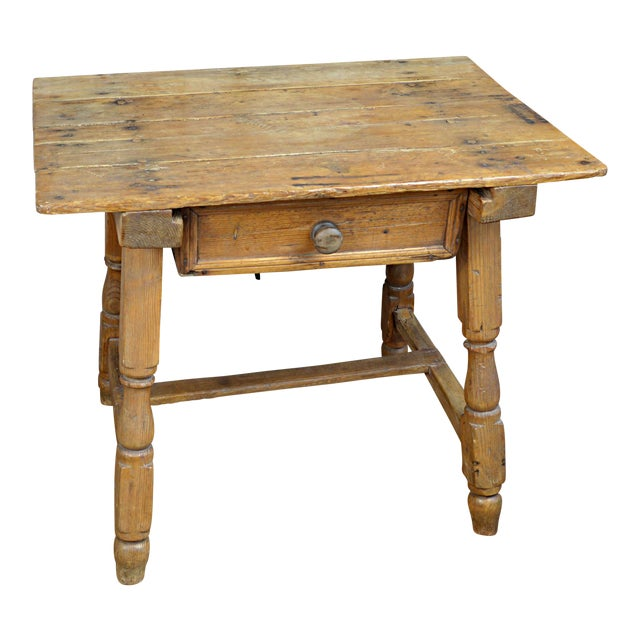 19th century spanish pine table chairish for Table th width
