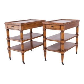 Baker Furniture Milling Road Traditional Nightstands or End Tables - a Pair For Sale