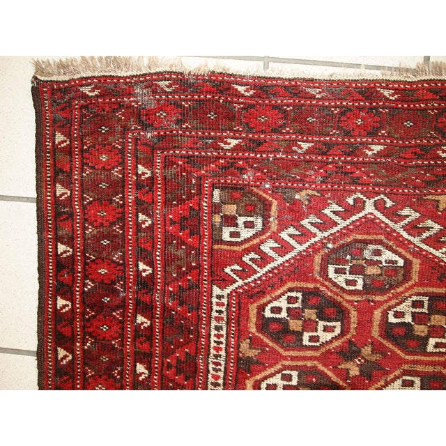1920s Antique Afghan Adraskand Hand Made Prayer Rug - 2'7'' X 3'7'' For Sale - Image 9 of 10