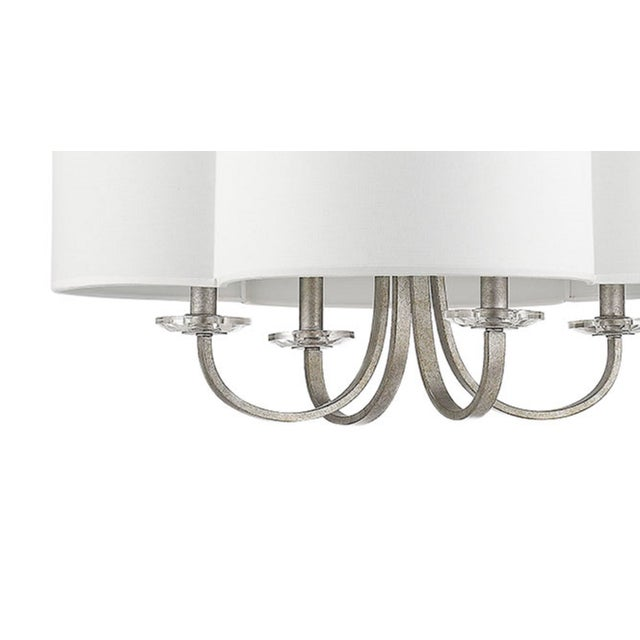 An elegant twist on the classic quatrefoil silhouette. Takes 60W bulb. Shipped with 5 feet of chain, and 12 feet of wire.