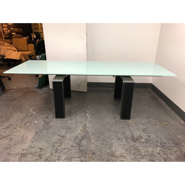 Contemporary Bontempi Casa Mistrak Glass Extendable Dining Table For Sale - Image 3 of 10
