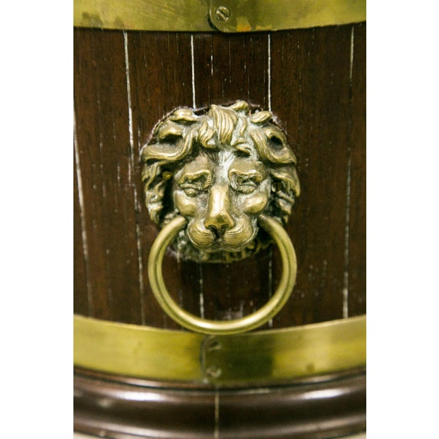 English George III Style Brass Bound Wine Cooler For Sale - Image 4 of 12