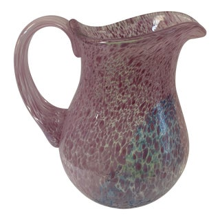 Late 20th Century Kosta Boda Pastel Ulrica Vallien Pitcher Signed and Numbered For Sale