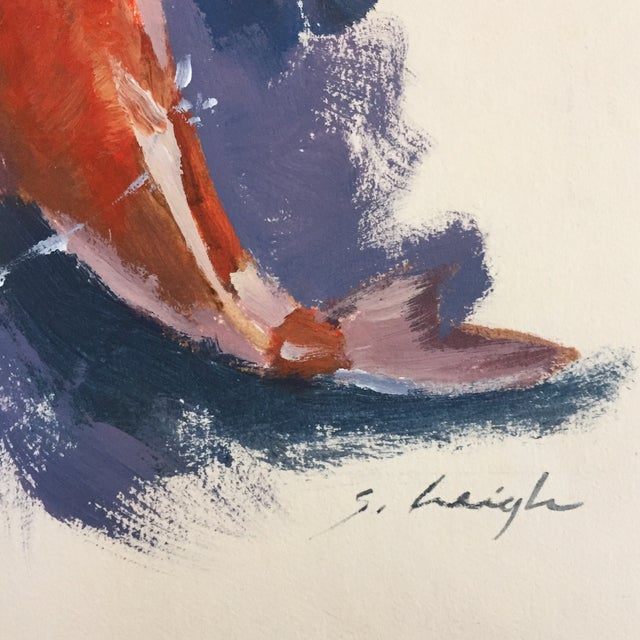Original Koi Illustration Painting Stephen Heigh - Image 3 of 5