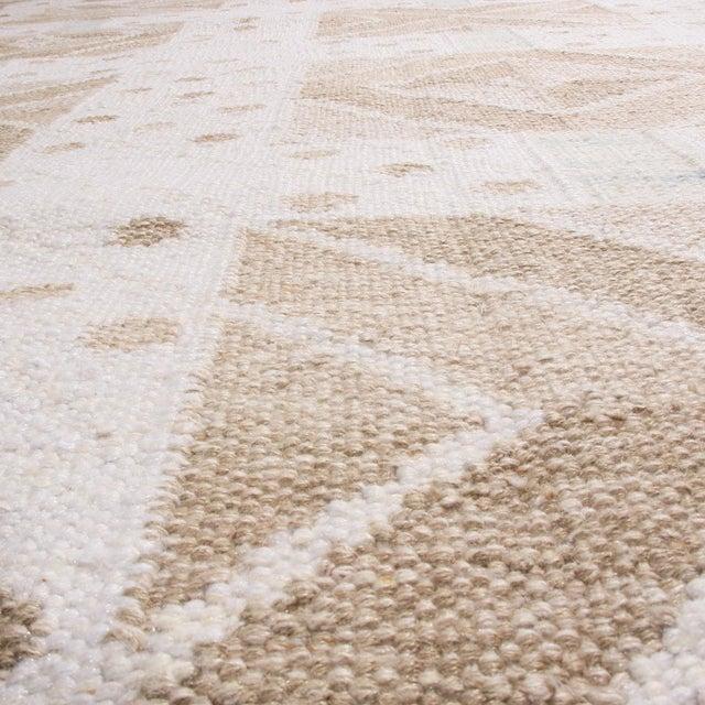 Rug & Kilim Rug & Kilim's Scandinavian-Inspired Geometric Cream Gray Natural Wool Rug - 10′4″ × 14′1″ For Sale - Image 4 of 6