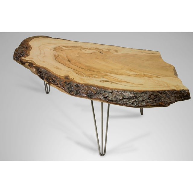 42cd38211da1 Rustic Silver Maple Live Edge Table For Sale - Image 3 of 7