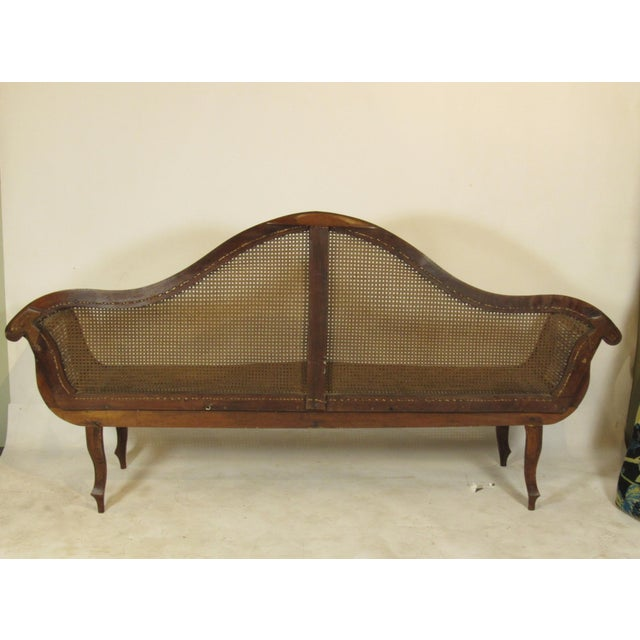 19th C. British Colonial Rosewood Settee For Sale - Image 12 of 13