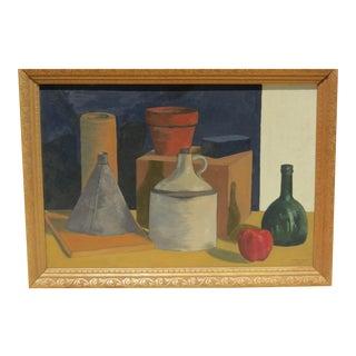 Mid-Century Modern Still Life Painting