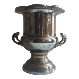 Vintage Silver Champagne Bucket or Wine Cooler For Sale