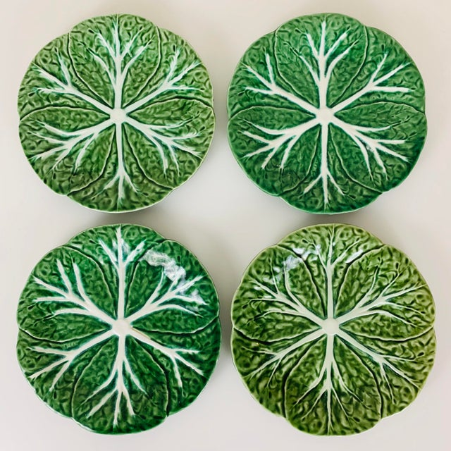 Vintage Williams Sonoma Green Cabbage Plates - Set of 4 For Sale - Image 9 of 10