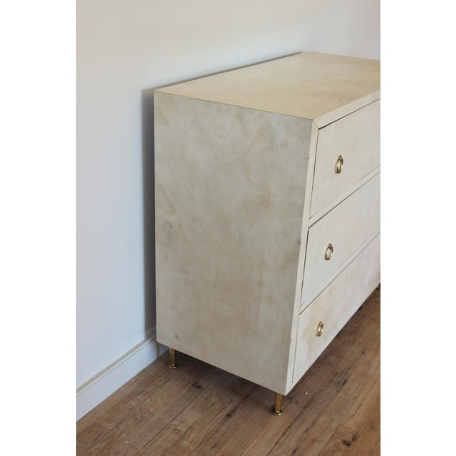 Modern 20th Century Modern Parchment Dresser For Sale - Image 3 of 11