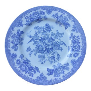 Royal Stafford Light Blue & White Fine Earthenware Plate For Sale