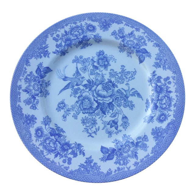 Royal Stafford Light Blue & White Fine Earthenware Plate For Sale