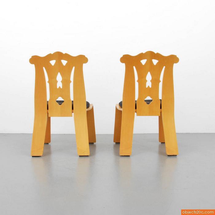 Pair of Robert Venturi u201cChippendaleu201d Chairs - Image 5 of 6  sc 1 st  Decaso & High-End Pair of Robert Venturi u201cChippendaleu201d Chairs | DECASO