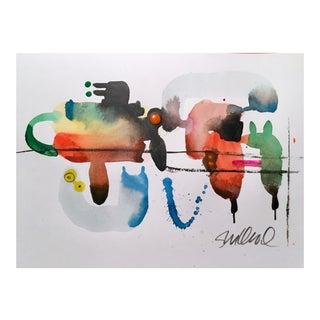 """Clothes Line 4"" Original Watercolor Painting For Sale"