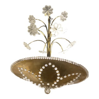 1930s French Bagues Light Fixture For Sale
