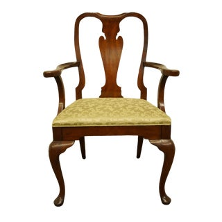 Late 20th Century Hickory James River Mahogany Queen Anne Dining Arm Chair For Sale