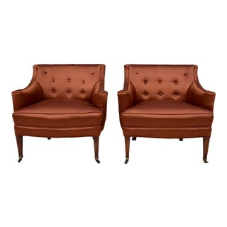 1950's Designer Hollywood Regency Chairs - A Pair