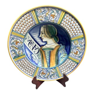 Handmade Italian Wall Plate 'Candia' by F. Niccacci For Sale